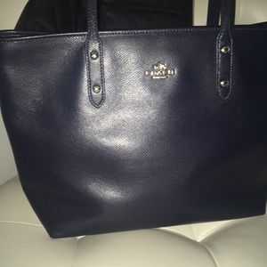 Coach dark navy blue bag